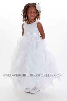 We absolutely love this dress. What a fun style, this dress can be worn to any occasion. This dress has such a cute skirt-the entire skirt of the dress is beautifully layered and ruffled. The skirt on this dress is so adorable. Made in gorgeous satin and organza with customizable sash to match any wedding color. The skirt also has additional netting crinoline underneath that can be puffed up if extra fullness is desired. Fully lined with a zipper back. This dress will be one that your…
