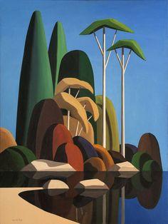 Canadian Painters, Canadian Art, Painting Inspiration, Art Inspo, Landscape Art, Landscape Paintings, Frida Art, Minimalist Art, Tree Art