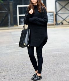 Minimal black fashion looks, style fashion, luxury fashion Mode Outfits, Winter Outfits, Casual Outfits, Fashion Outfits, Fashion Weeks, Dress Winter, Jeans Fashion, Dress Fashion, Fashion Mode