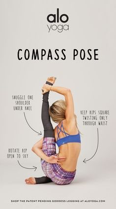 3 Tips To Master Compass Pose from Ashley Galvin #yoga #inspiration #aloyoga