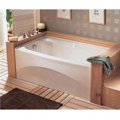 Bathtub Alcove, Corner Bathtub, Decorating Your Home, Decorating Ideas, Decor Ideas, Soaking Bathtubs, American Standard, Home Spa, Future House
