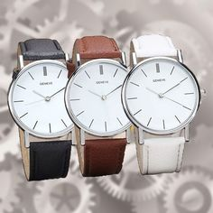 Luxury Brand Geneva Women dress Watches Leather Band Analog Quartz Wrist Watch #Unbranded #Dress