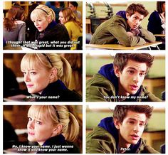 These two are kind of the best... -E Emma Stone and Andrew Garfield in The Amazing Spiderman