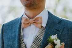 50d6c47df92d Handmade Floral Corduroy Bow Tie by the Belfast Bow Company Dapper Groom  Pocket Square