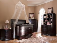best option of Baby Furniture & Nursery Sets to show your style . you discover our room designs as well as curated looks for ideas, ideas & inspiration Dark Wood Nursery, Rustic Nursery Furniture, Baby Furniture, Nursery Modern, Furniture Stores, Bedroom Furniture, Nursery Room, Girl Nursery, Nursery Ideas