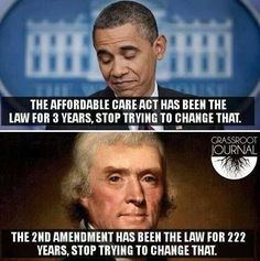 Touché! Obamacare vs 2nd Amendment