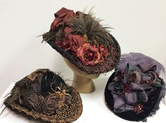More wonderful Lizzie hats made by Nichole in our workroom.