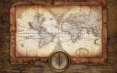 antique map compass background 1920x1200