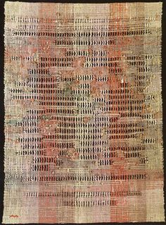 Anni Albers | Development in Rose II | linen | plain + gauze weave | 1952