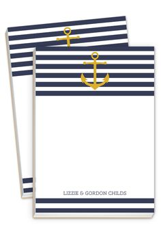 Anchors Aweigh Notepad $29 for 2