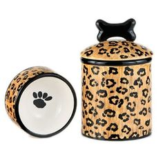 Wild Leopard Dog Bowl