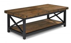 Carpenter Rectangular Coffee Table by #Flexsteel via Flexsteel.com