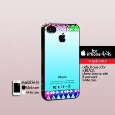 Aztex Pattern Apple Logo - Print Hard Cover For iPhone 4/4S
