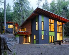 House in the Woods - could work as a straw bale