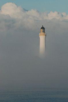 Graemsay High lighthouse in fog   Flickr - Photo Sharing!