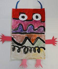 Mr. O's Art Room: Kindergarten Line Monsters