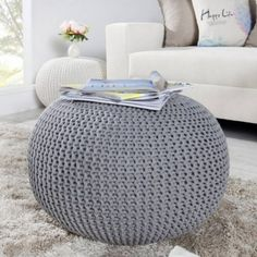 Shop for pouf on Etsy, the place to express your creativity through the buying and selling of handmade and vintage goods. Trendy Furniture, Furniture Design, Outdoor Furniture, Outdoor Decor, Crochet Pouf, Trendy Bar, Floor Cushions, Leeds, Foot Rest