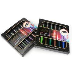 6Pcs/Set Long-lasting Waterproof Eyeshadow Pen Eyeliner Eyebrow Pencil