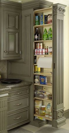 Unique Home Architecture — Pull out pantry charisma design