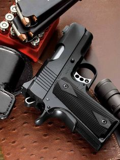Kimber Ultra Carry II Pistol w/ Night Sights. But this is the closest minus the night sights and add Rosewood laser grips with a steel slide. Rifles, Tactical Life, Tactical Gear, Tactical Survival, Home Defense, Self Defense, Colt M1911, Revolvers, 1911 Pistol