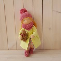 Textile baby doll with set of clothes. Gift for kids l. Presents For Girls, Gifts For Kids, Toddler Gifts, Baby Gifts, Handmade Christmas Gifts, Handmade Gifts, Natural Toys, Waldorf Toys, Original Gifts