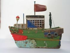Cool PRIMITIVE Wooden Boat! found on Crafts by Tracey by Rachel Sumner