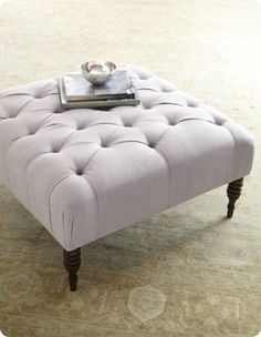 square tufted ottoman coffee table | ottoman is similar to the nancy tufted ottoman from horchow