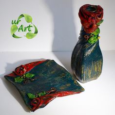ur   bijuterii si decoratiuni handmade Polymer Clay, Tableware, Dinnerware, Tablewares, Dishes, Place Settings, Modeling Dough