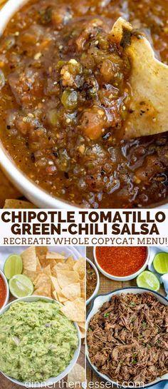 Tomatillo Salsa Recipe, Spicy Salsa, Salsa Picante, Chipotle Menu, Roasted Tomatillo Salsa, Salsa Salsa, Chili's Salsa Recipe, Chilis, Jalapeno Salsa