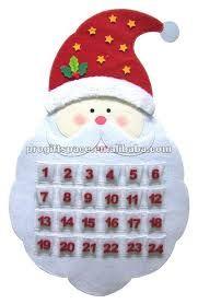 como hacer calendario navideño en fieltro - Buscar con Google