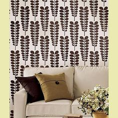 Wall stenciling instead of wall paper. This website has tons of gorgeous stencils. Use on a floor too!