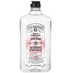 J.R. Watkins Grapefruit Dishsoap. If only my kitchen was worthy of such a pretty bottle.
