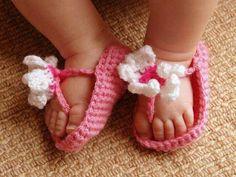 Baby-crochet sandles