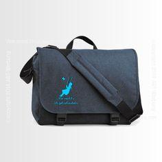 Two-Tone Digital Messenger denim blue von Jajis-ART auf DaWanda.com
