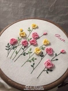 Wonderful Ribbon Embroidery Flowers by Hand Ideas. Enchanting Ribbon Embroidery Flowers by Hand Ideas. Hardanger Embroidery, Learn Embroidery, Hand Embroidery Stitches, Silk Ribbon Embroidery, Hand Embroidery Designs, Embroidery Techniques, Embroidery Thread, Floral Embroidery, Embroidery Supplies