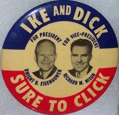Eisenhower/Nixon jugate button, 1952