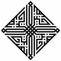 Kufi by Lutfi Arabic Calligraphy Art, Beautiful Calligraphy, Arabic Art, Caligraphy, Op Art, Geometric Designs, Geometric Shapes, Bg Design, Geometry Art