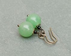 Aventurine earrings.  by BijoubeadsLondon