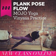 #Plank pose will be your new best friend with this new class from Kassandra @yoga_with_kassandra online in the MOJO Member Space now!  This fiery #flow helps us discover new #strength and energy by bringing us back to our center. You might even discover versions of plank you've never before imagined!  MOJO Members just hit play on this one in your Recently Added Videos. If you haven't joined us yet you can try this and all our other enlightening practices free for your first 10 days. Just…