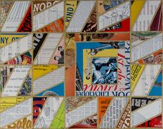 """Box collage, 11 x 14"""", vintage paper on cradled board, available for purchase."""