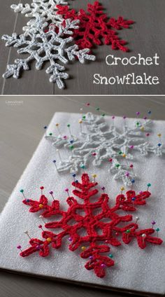 Crochet Snowflake Pattern Lots Of Ideas Video Tutorial - Crochet Snowflake Pattern Lots Of Ideas Video Tutorial Gorgeous Crochet Snowflake Free Patterns Crochet Christmas Decorations, Christmas Crochet Patterns, Crochet Decoration, Holiday Crochet, Crochet Gifts, Diy Crochet, Tutorial Crochet, Free Crochet Snowflake Patterns, Crochet Ideas