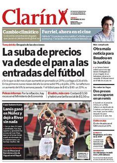 Más alzas de precios: suben desde el pan hasta el fútbol. Más información: http://www.clarin.com/politica/alzas-precios-suben-pan-futbol_0_1025297463.html