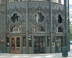 Carson Pririe Scott Building, on State St., Chicago.  I passed thru these doors many many times.