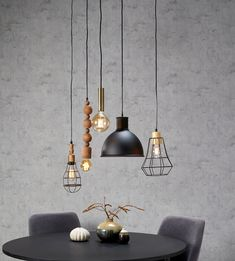 Large hanging lamp glass smokeWow, everyone want to be over their dining table ? This large 8 light hanging lamp completes Living Room Decor, Bedroom Decor, Metal Dining Table, Steampunk Lamp, Dining Room Design, Hanging Lights, Cozy House, Rattan, Modern Decor