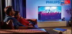 Téléviseur LED ultra-plat 4K avec Android TV avec Ambilight 3 côtés - http://streel.be/televiseur-led-ultra-plat-4k-android-tv-ambilight-3-cotes/