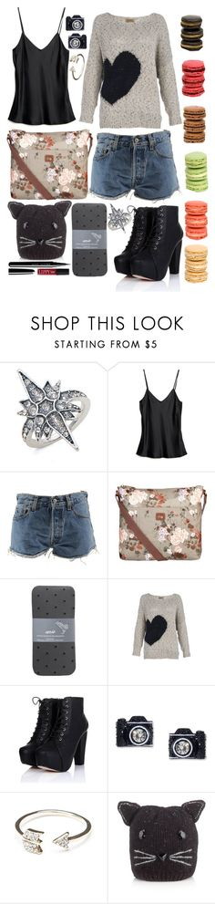 """Some nights I wait up casting in my bad luck/ some nights I call it a draw/ some nights I wish my lips could build a castle/ some nights I wish they'd just fall off"" by totallytrue ❤ liked on Polyvore featuring Ladurée, Hellessy, Levi's, Nica, American Eagle Outfitters, Betsey Johnson, Accessorize, Marc Jacobs and Butter London"
