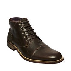 YOURK DARK BROWN mens bootie casual oxford - Steve Madden