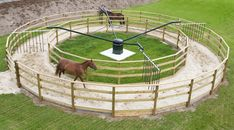 Self-confident reorganized model train scenery navigate here Riding Stables, Horse Stables, Horse Farms, Dream Stables, Dream Barn, Round Pens For Horses, Horse Walker, Horse Barn Designs, Horse Barn Plans
