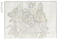 Schema punto croce Canguri 2