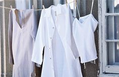 From tea towels to trousseaux, linen enjoys a heritage at once humble and grand. Country Living takes a look at linen. Grace Beauty, Linen Tunic, Linen Shirts, Fashion Forecasting, Linen Spray, Shades Of White, White Shirts, Lovely Dresses, Signature Style